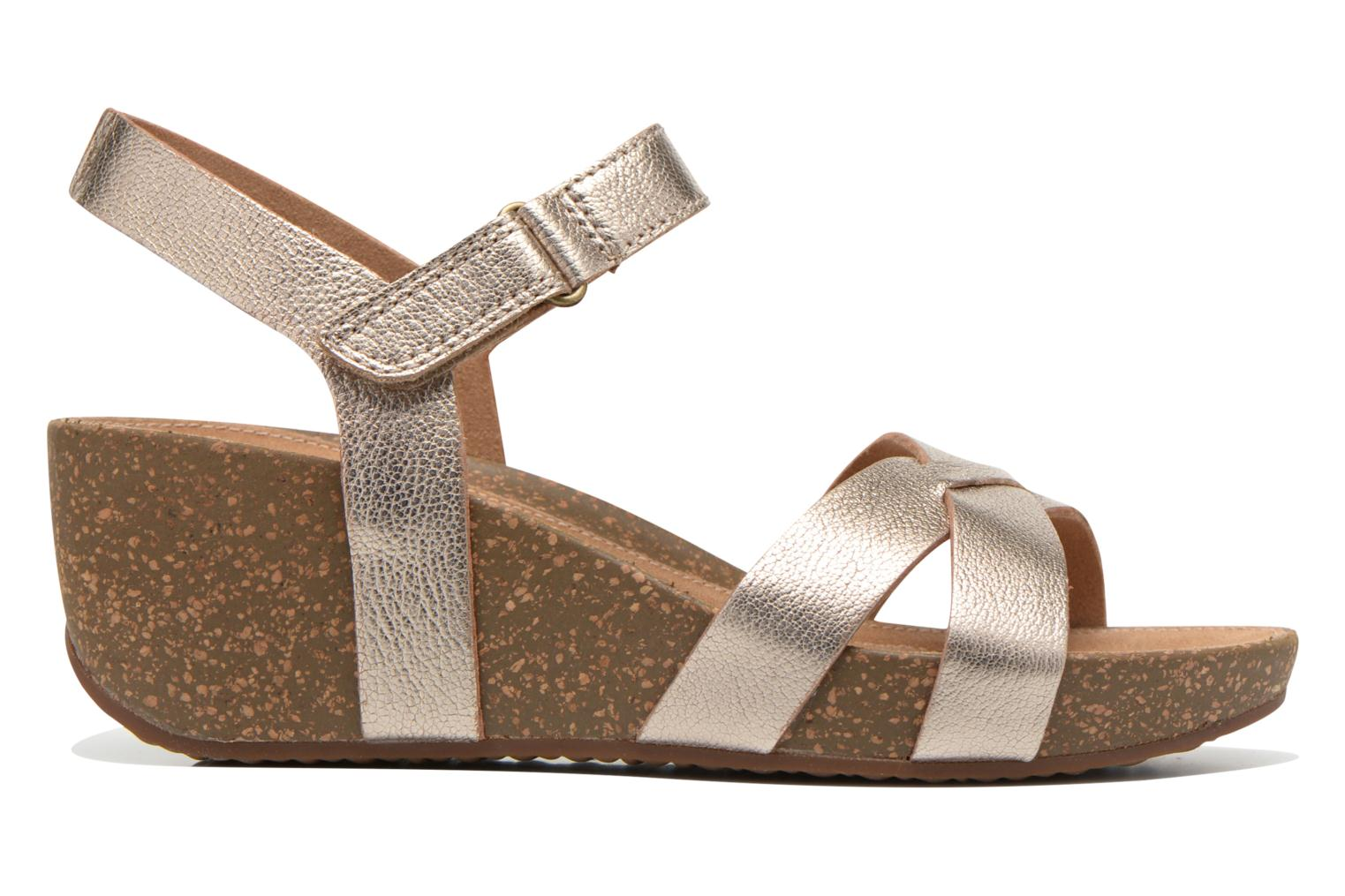 Sandals Clarks Temira Compass Bronze and Gold back view
