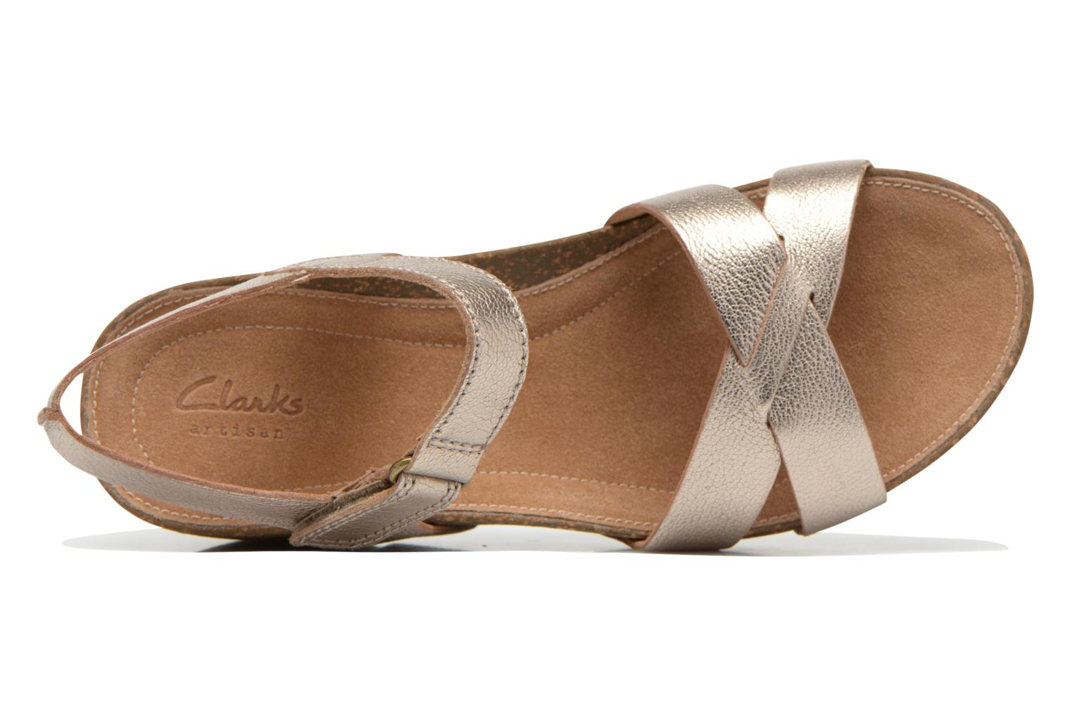 Sandals Clarks Temira Compass Bronze and Gold view from the left