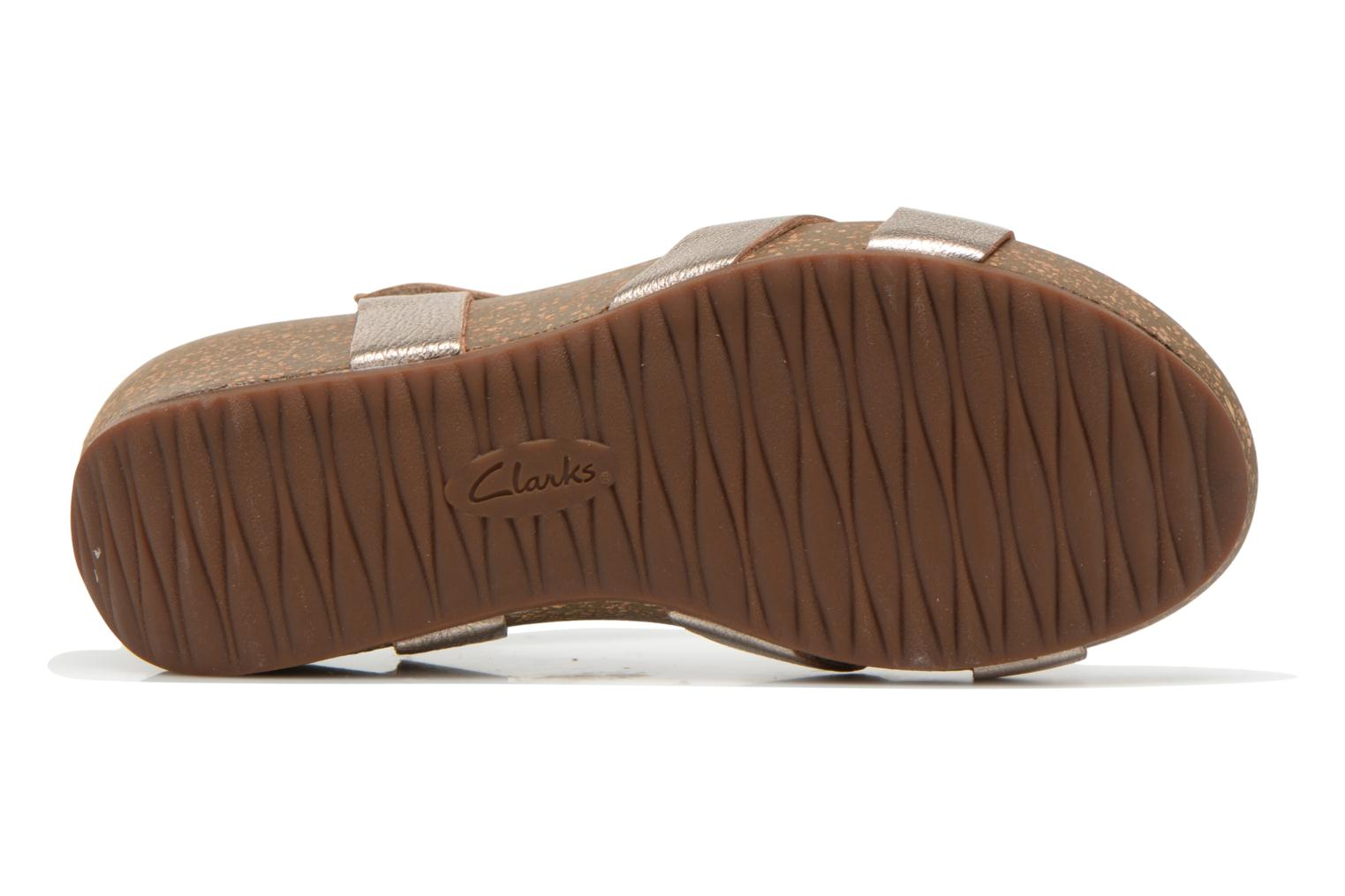 Sandals Clarks Temira Compass Bronze and Gold view from above