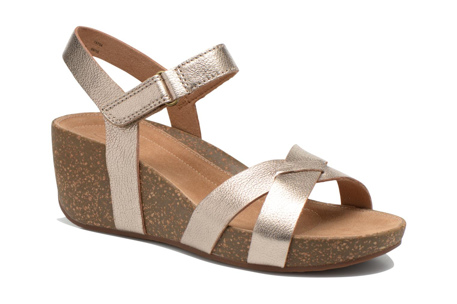 Sandals Clarks Temira Compass Bronze and Gold detailed view/ Pair view