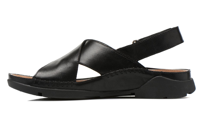 Sandales et nu-pieds Clarks Tri Alexia Noir vue face