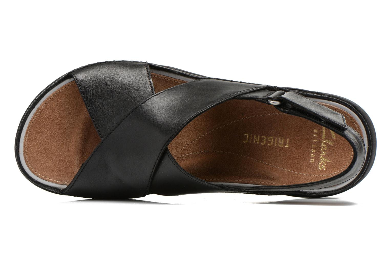 Sandales et nu-pieds Clarks Tri Alexia Noir vue gauche