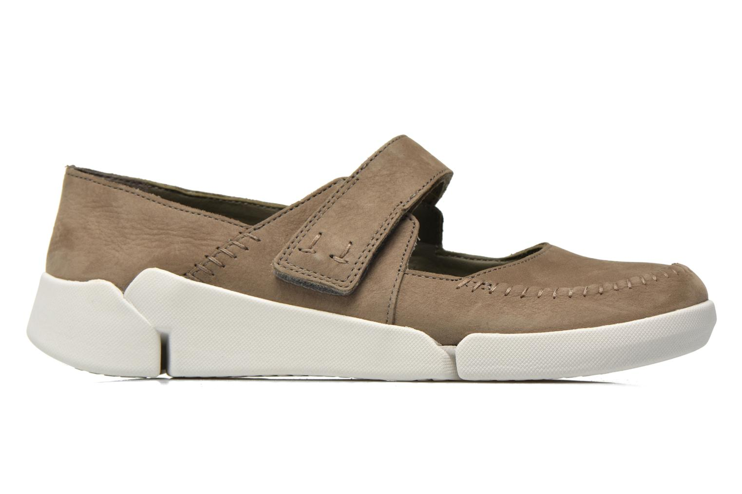 Ballet pumps Clarks Tri Amanda Brown back view