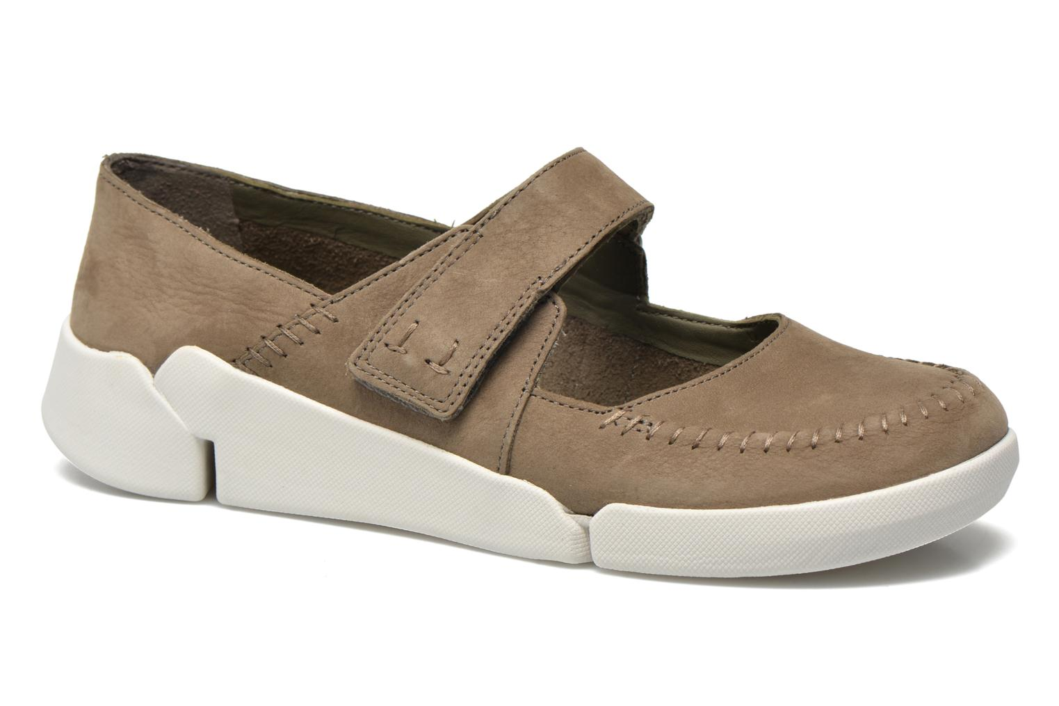 Ballet pumps Clarks Tri Amanda Brown detailed view/ Pair view