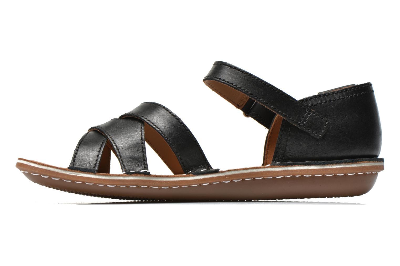 Sandales et nu-pieds Clarks Tustin Sahara Noir vue face