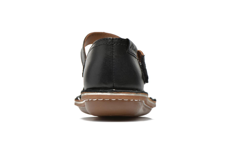 Sandales et nu-pieds Clarks Tustin Sahara Noir vue droite