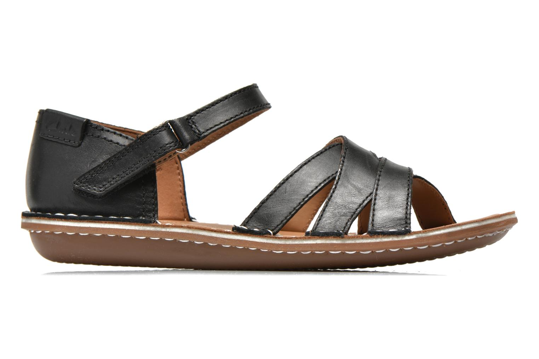 Sandales et nu-pieds Clarks Tustin Sahara Noir vue derrière