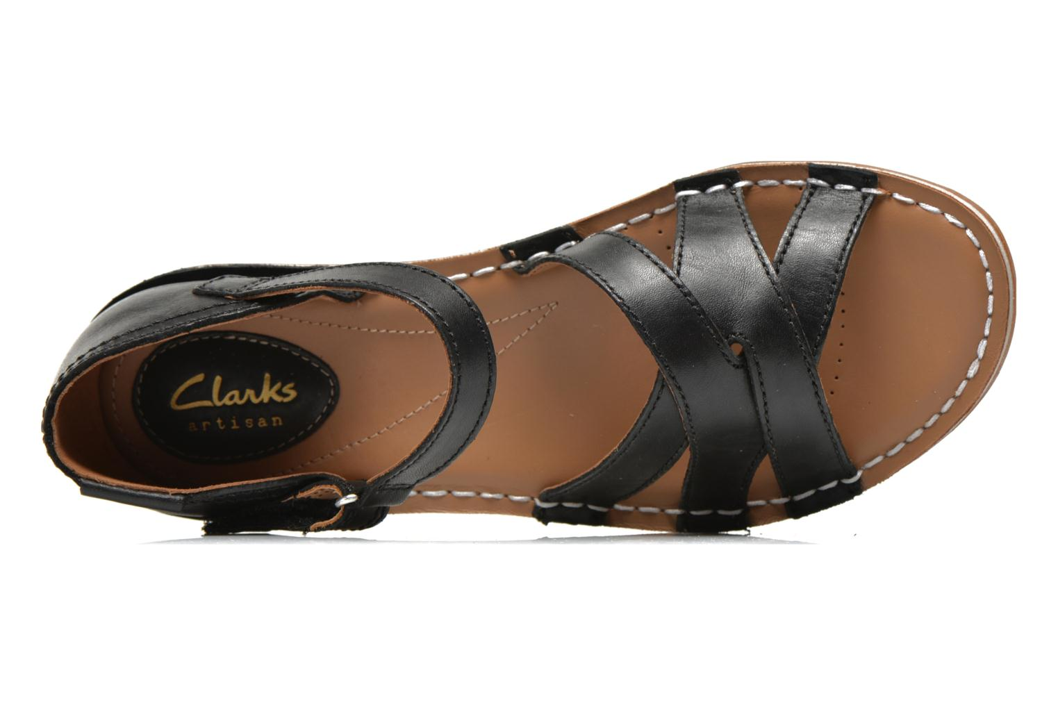 Sandals Clarks Tustin Sahara Black view from the left