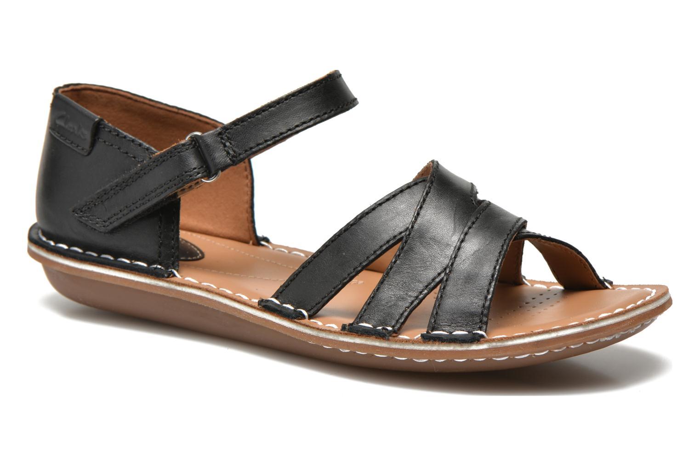 Sandales et nu-pieds Clarks Tustin Sahara Noir vue détail/paire