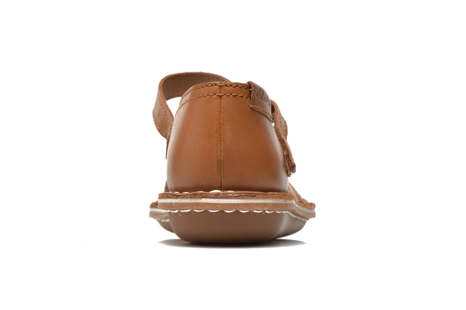 Sandals Clarks Tustin Sahara Brown view from the right