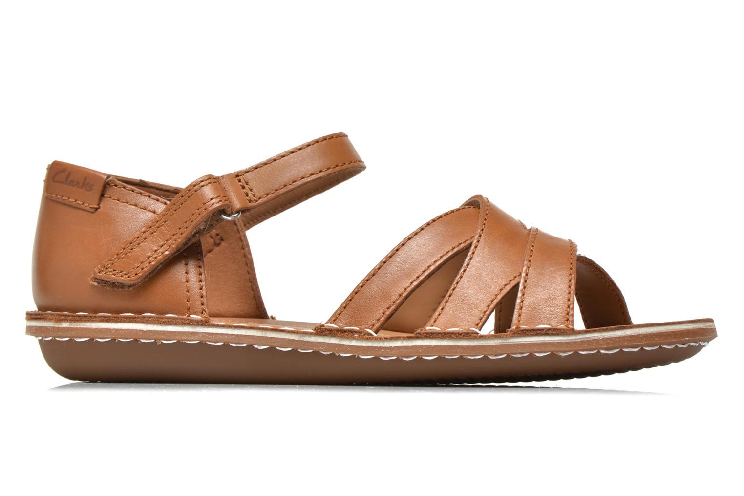 Sandals Clarks Tustin Sahara Brown back view