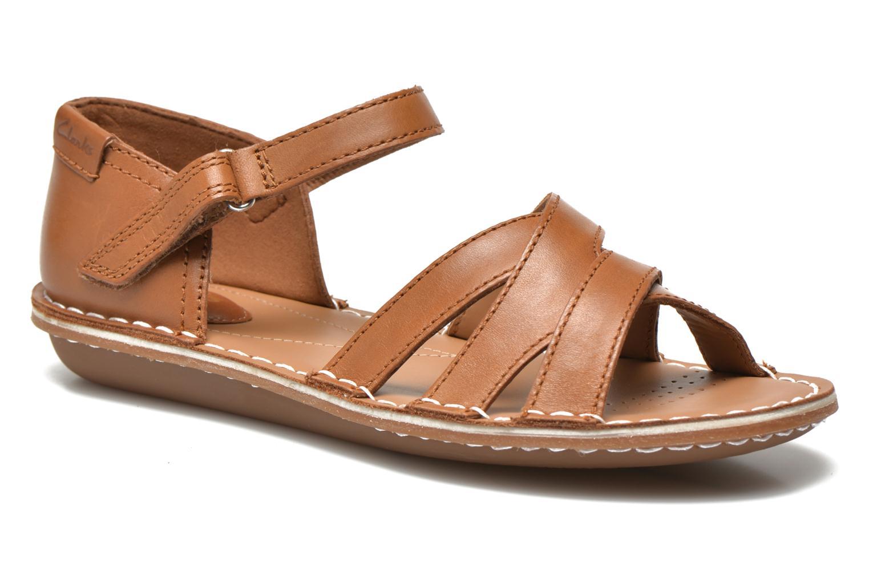Sandaler Clarks Tustin Sahara Brun detaljeret billede af skoene