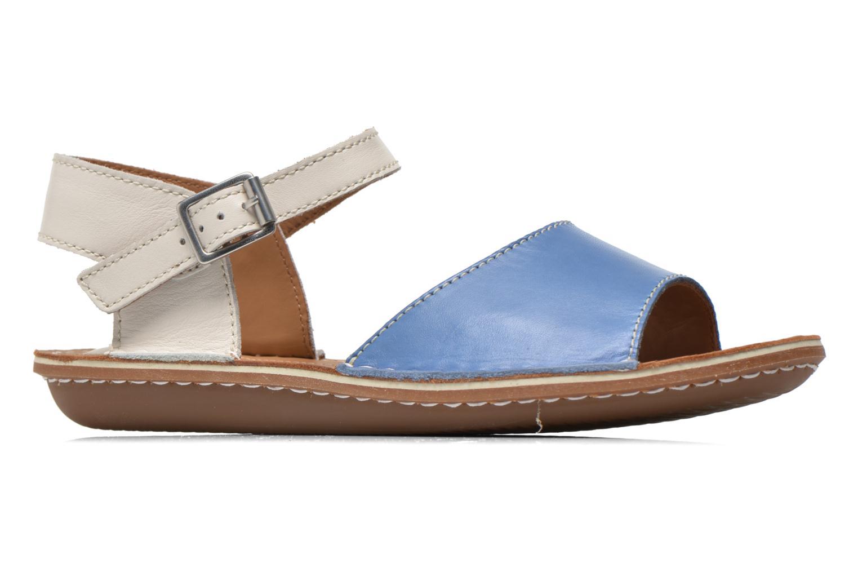 Sandales et nu-pieds Clarks Tustin Sinitta Bleu vue derrière