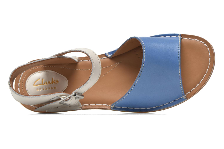 Sandales et nu-pieds Clarks Tustin Sinitta Bleu vue gauche