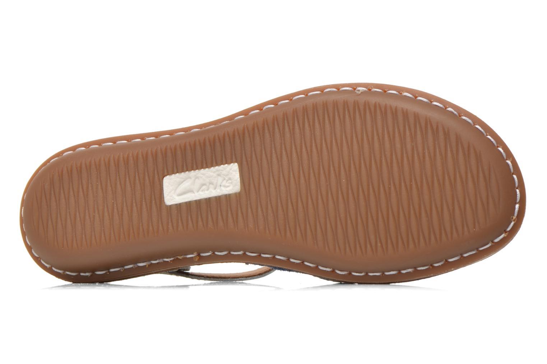 Sandales et nu-pieds Clarks Tustin Sinitta Bleu vue haut