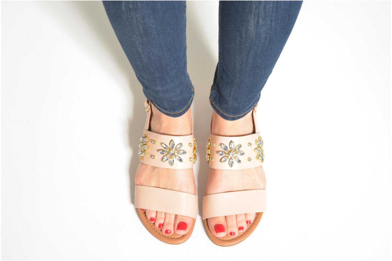 Sandalen Clarks Viveca Melrose rosa ansicht von unten / tasche getragen