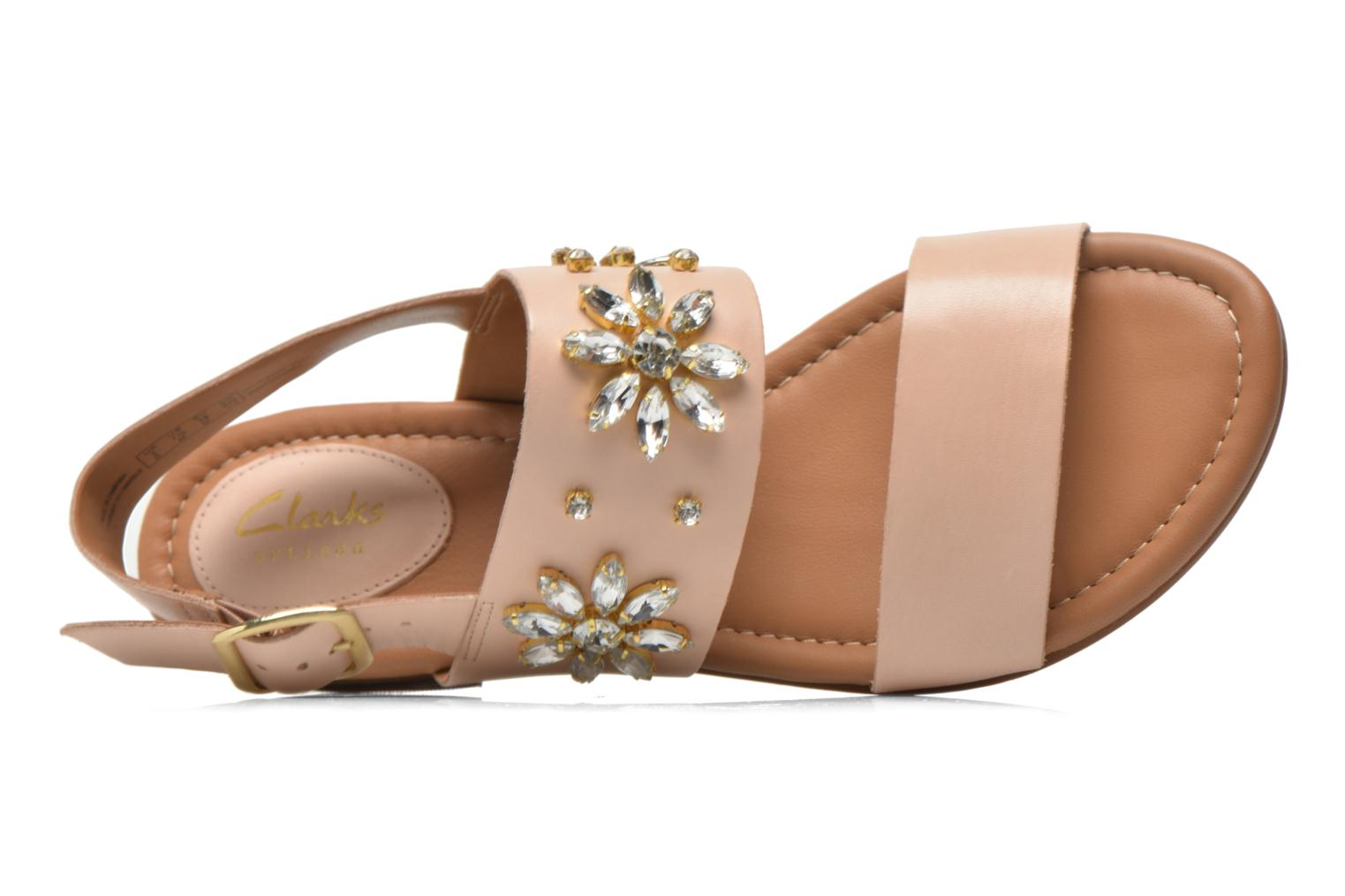 Sandals Clarks Viveca Melrose Pink view from the left