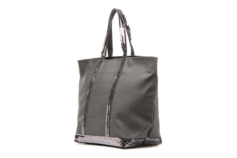Handväskor Vanessa Bruno Cabas Coton M+ Zip Grå bild av skorna på