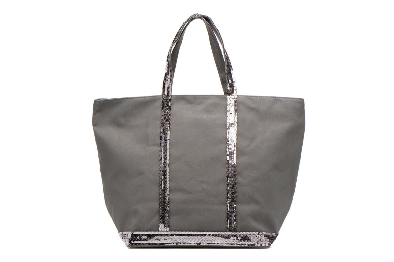 Handväskor Vanessa Bruno Cabas Coton M+ Zip Grå bild från framsidan