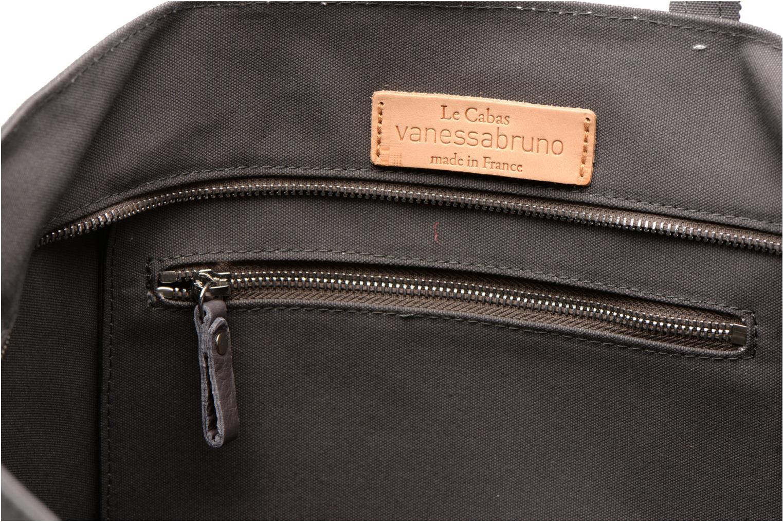 Handtaschen Vanessa Bruno Cabas Coton M+ Zip grau ansicht von hinten