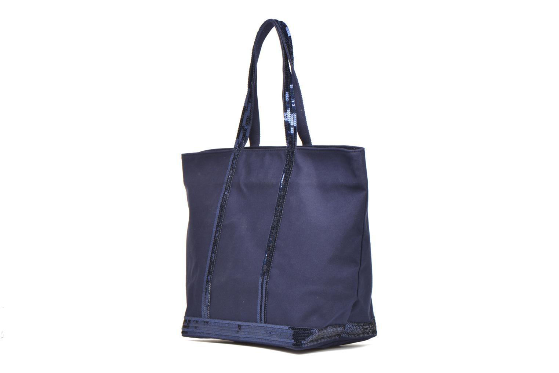 Handväskor Vanessa Bruno Cabas Coton M+ Zip Blå bild av skorna på