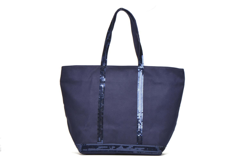 Handväskor Vanessa Bruno Cabas Coton M+ Zip Blå bild från framsidan