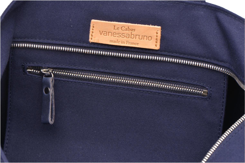 Sacs à main Vanessa Bruno Cabas Coton M+ Zip Bleu vue derrière