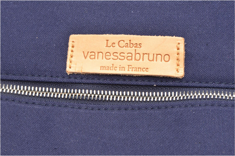 Handväskor Vanessa Bruno Cabas Coton M+ Zip Blå bild från vänster sidan