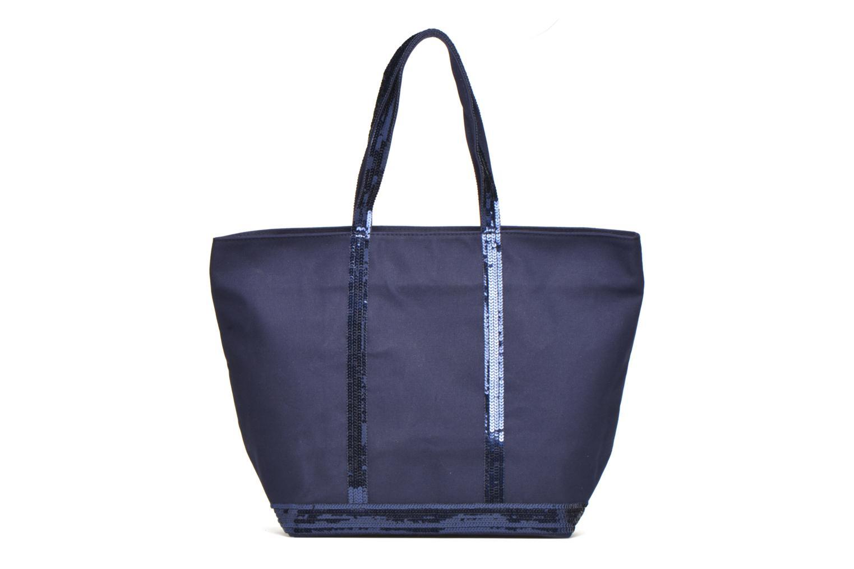 Handväskor Vanessa Bruno Cabas Coton M+ Zip Blå detaljerad bild på paret