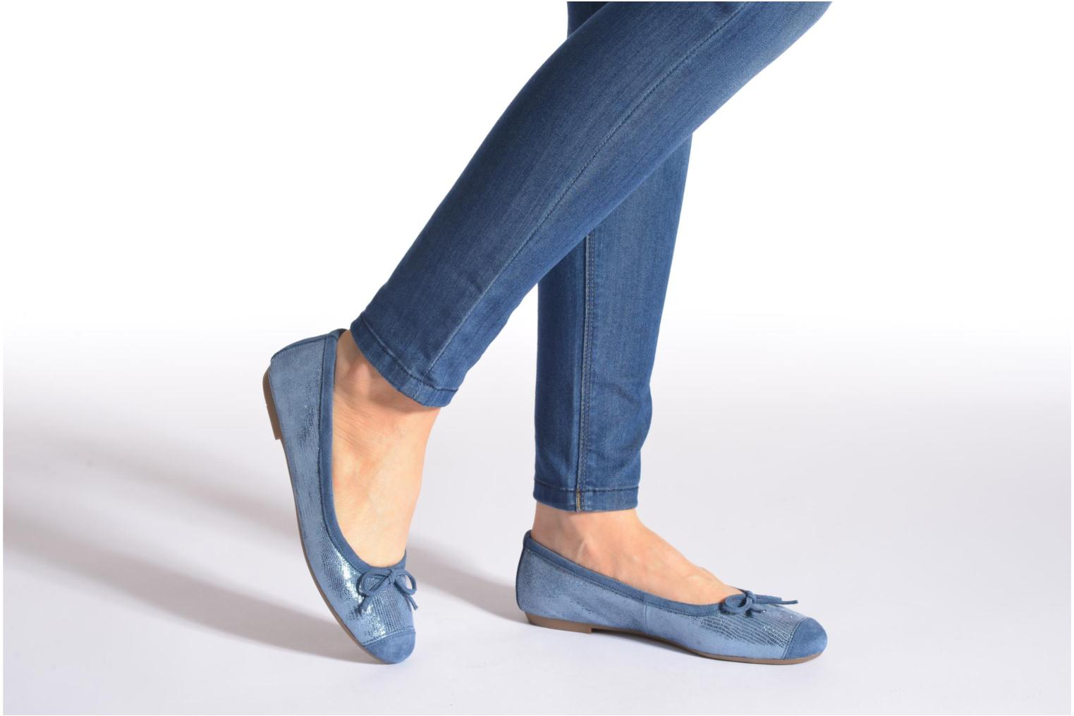 Ballet pumps Coco et abricot Belline 3 Blue view from underneath / model view