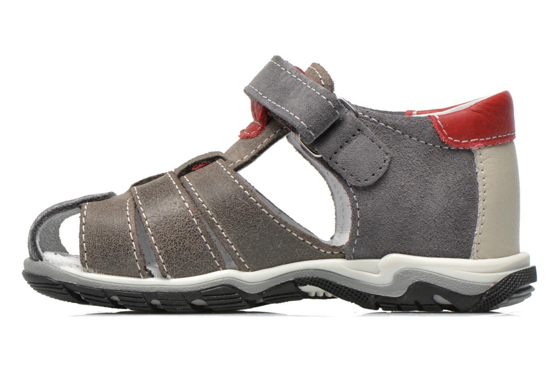 Sandales et nu-pieds Bopy Bugati Gris vue face