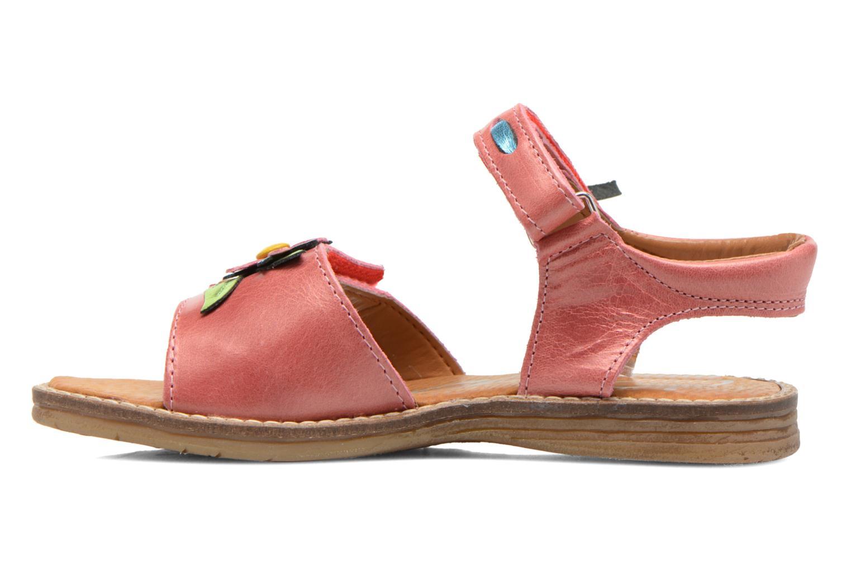 Sandales et nu-pieds Bopy Ecolor Rose vue face