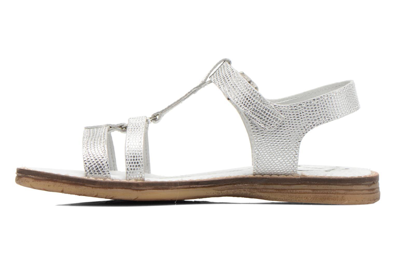Sandales et nu-pieds Bopy Elea Argent vue face