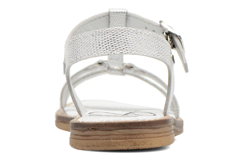 Sandalen Bopy Elea silber ansicht von rechts