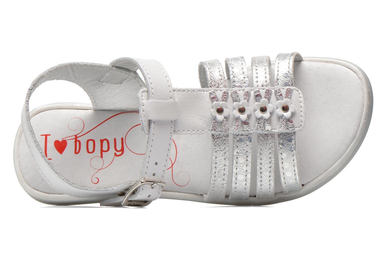 Sandales et nu-pieds Bopy Elodine Blanc vue gauche