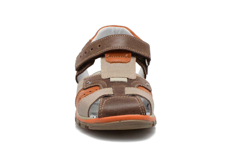 Sandals Bopy Erdol Brown model view