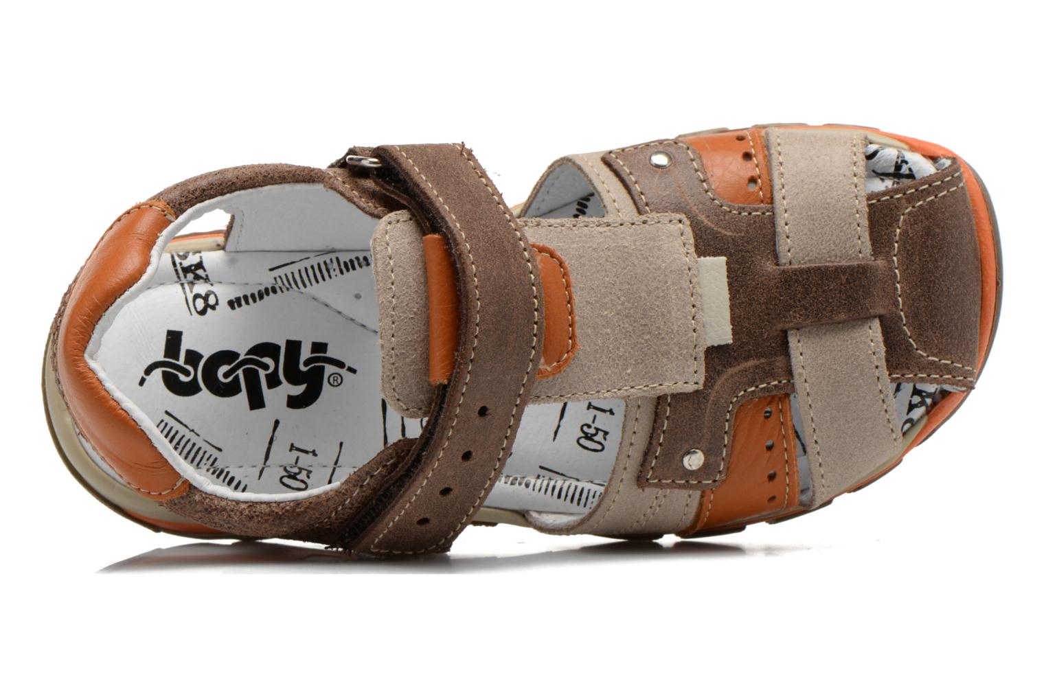 Sandals Bopy Erdol Brown view from the left