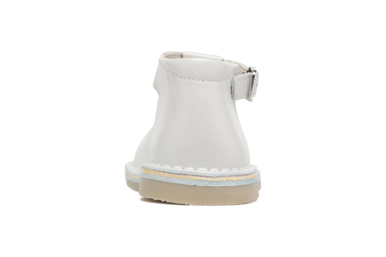Summer boots Bopy Mapil White view from the right