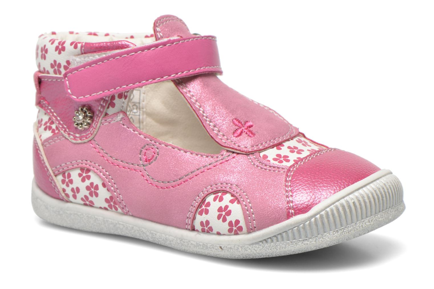 Summer boots Bopy Noriane Pink detailed view/ Pair view