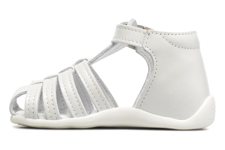Sandalen Bopy Paula weiß ansicht von vorne