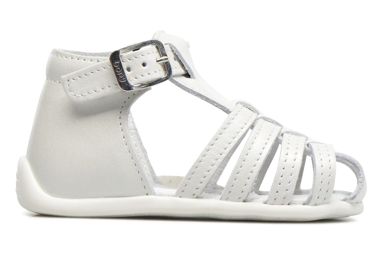 Sandales et nu-pieds Bopy Paula Blanc vue derrière