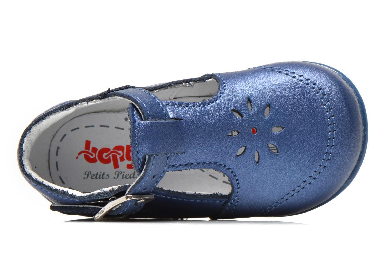 Sommerschuhe Bopy Poumbo blau ansicht von links