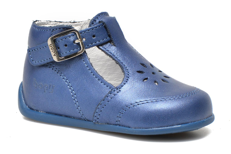 Sommersko Bopy Poumbo Blå detaljeret billede af skoene