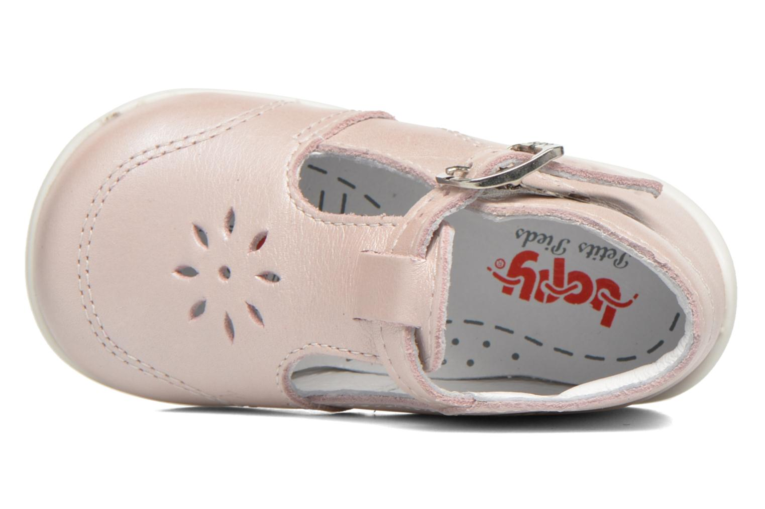 Summer boots Bopy Poumbo Pink view from the left