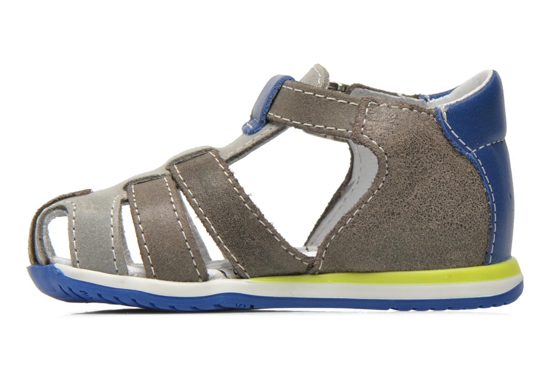 Sandales et nu-pieds Bopy Zephiro Gris vue face