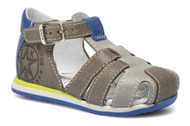 Sandals Bopy Zephiro Grey detailed view/ Pair view