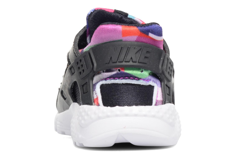 Nike Huarache Run Print (Td) Black/Black-Hyper Violet-Hyper Violet