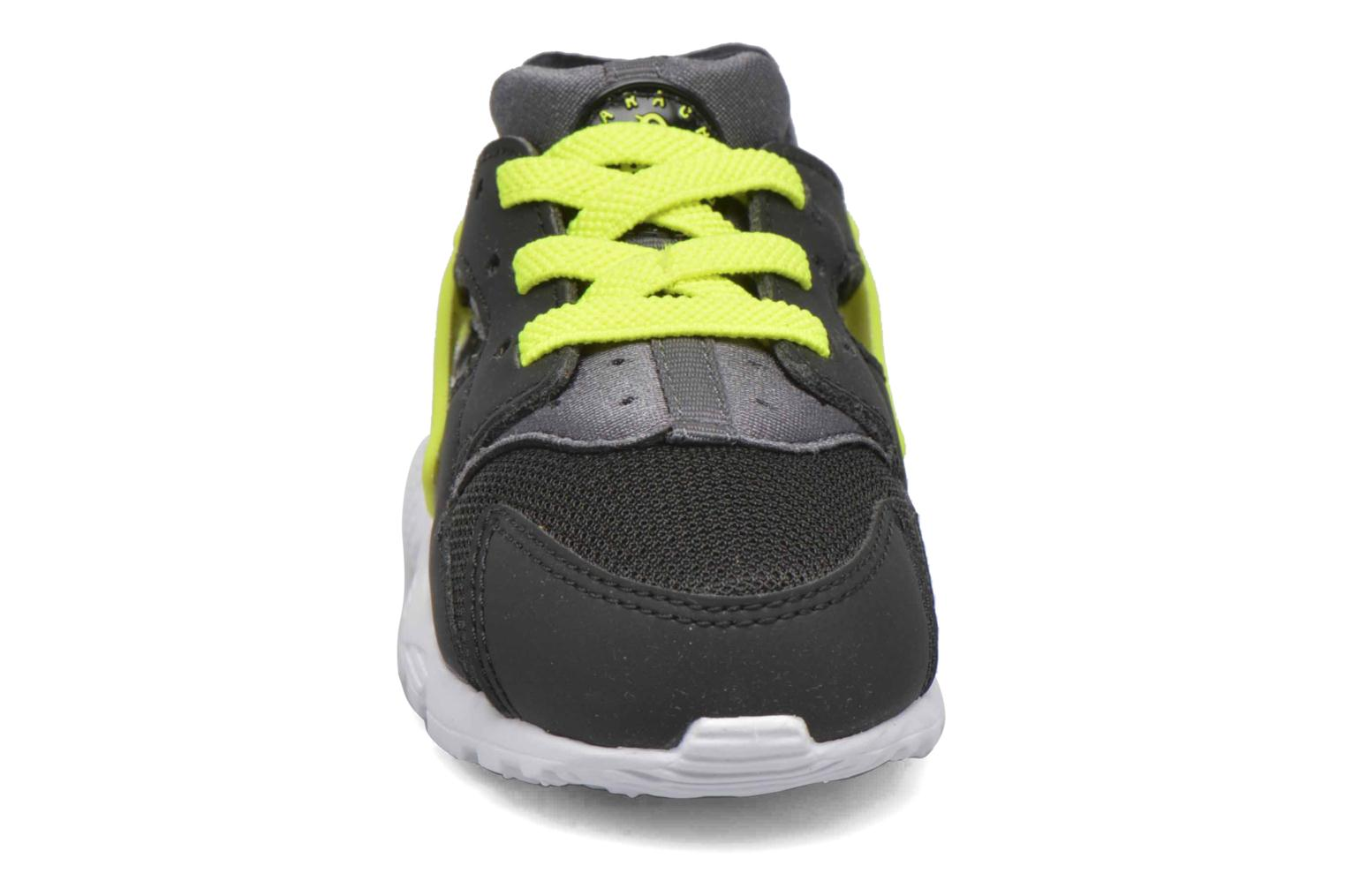 Nike Huarache Run (Td) Black/volt-dark grey-white