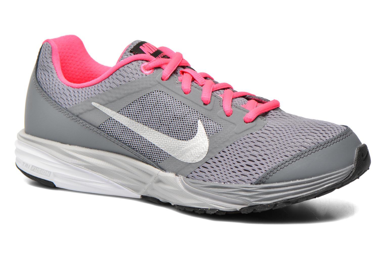 Baskets Nike Tri Fusion Run (Gs) Gris vue détail/paire