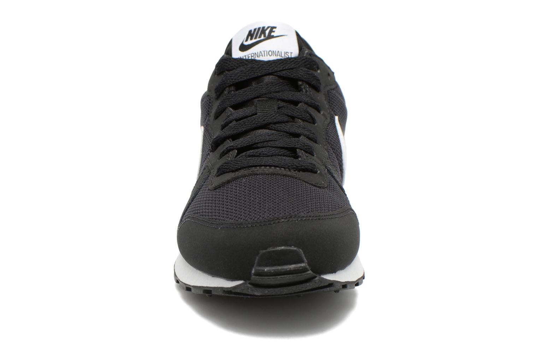 Sneaker Nike Internationalist (Gs) schwarz schuhe getragen